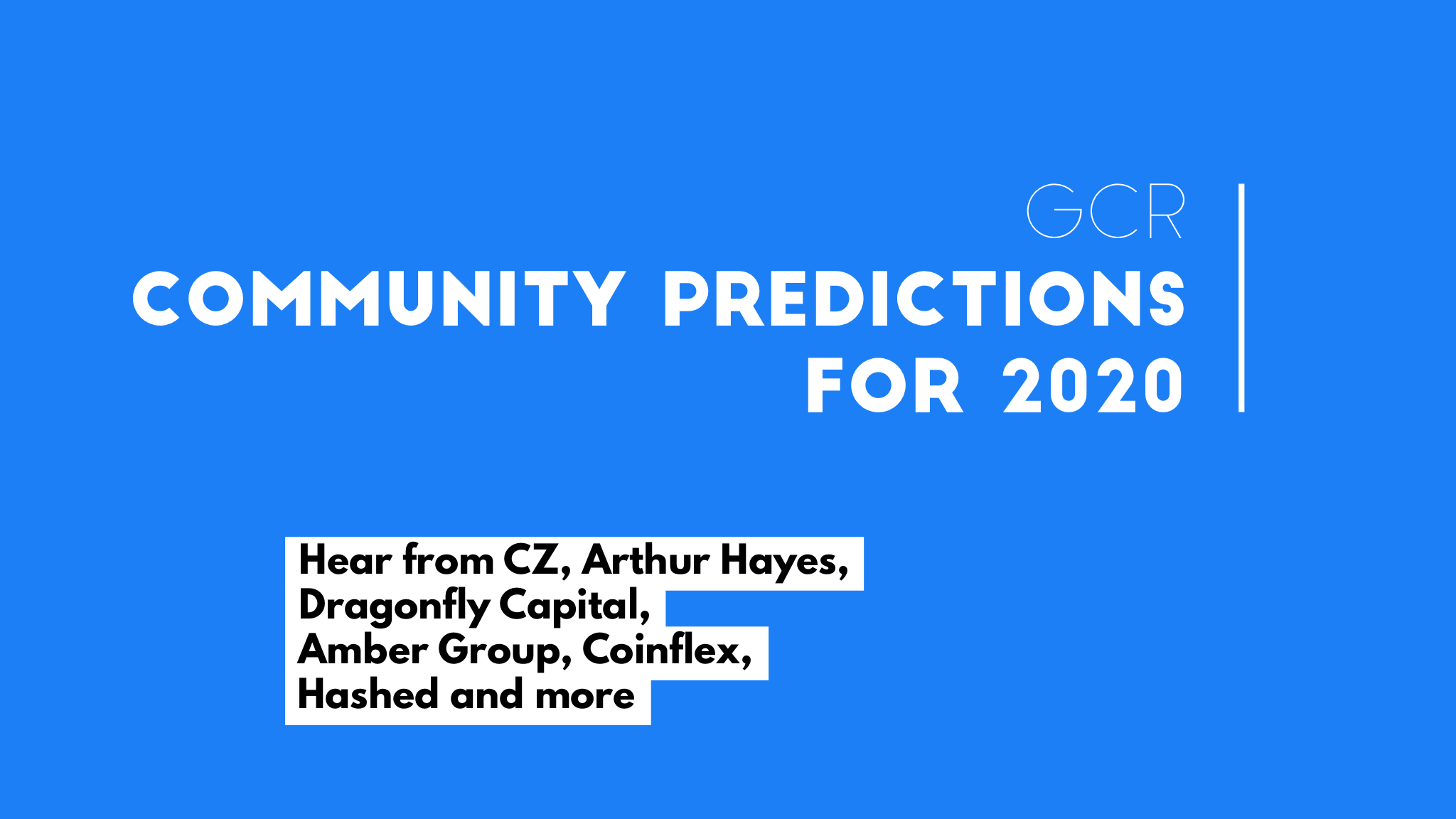 GCR 2020 community predictions