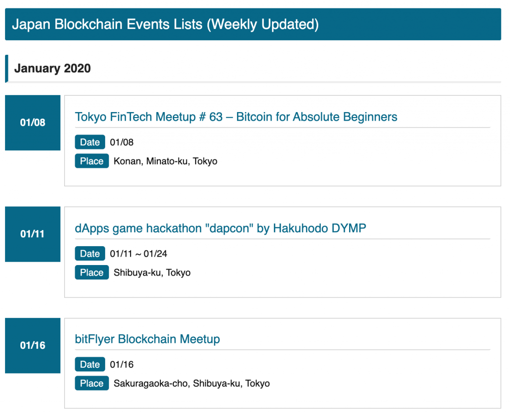 Upcoming Blockchain Events in Japan
