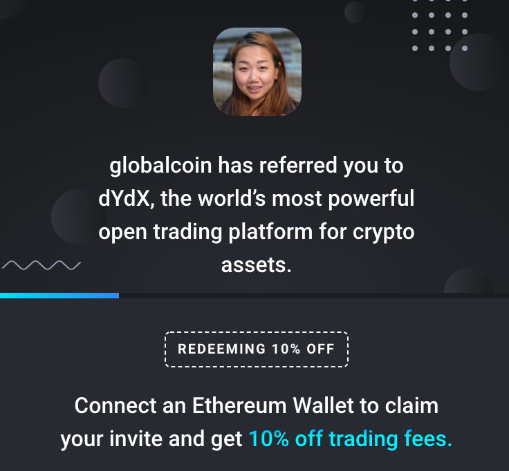 Trade on dYdX with 10% Off Trading Fees- Perpetuals, Margin and Spot
